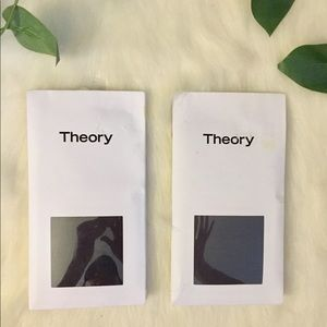 Theory Farrah Ribbed Luxe Tights ( Set of 2 ) NWT